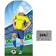 BundleZ-4-FanZ by Starstills Fan Pack - World Cup Football 2018 Brazil Stand-In Lifesize Adult Cardboard Cutout with 20cm x 25cm Star Photo