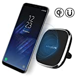 Caricabatteria wireless per auto, Magnetic Wireless Car Charger Car Holder, Nillkin 2-in-1 Qi Caricatore senza fili di ricarica e supporto magnetico per auto [con ventola d'aria per auto] per Samsung Galaxy Note 8 S8 S8 Plus S7 Edge e iPhone 8 8 Plus 7 7 Plus 6 6Plus e altri dispositivi Qi - Nero