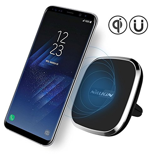 Caricatore Wireless Auto, Nillkin 2-in-1 Qi Caricatore senza fili di ricarica e supporto magnetico per auto per Samsung Galaxy Note 8 S8 S8 Plus e iPhone X/ 8/8 Plus e altri dispositivi Q