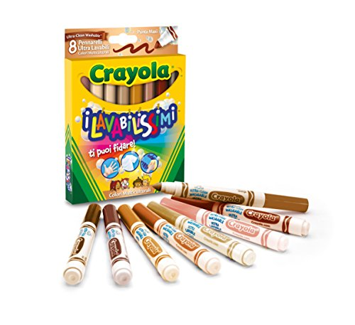 Crayola 58–8336–Die lavabilissimi 8Marker, Spitze Maxi, Farben multikulturellen