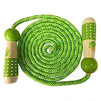 Towinle Comba, Cuerda Saltar Comba Ajustables para niños con Dibujos Animados Mango de Madera niños Spring Cuerda de algodón 2.7m niños Saltar Cuerda con Bolsa