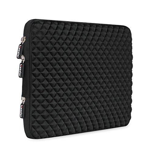 iCozzier 13-13,3 Zoll Diamantstil handliche Hülle für Asus Acer HP Lenovo Dell Samsung Toshiba Chromebook Macbook Ultrabook Laptop Notebook Computer - Schwarz
