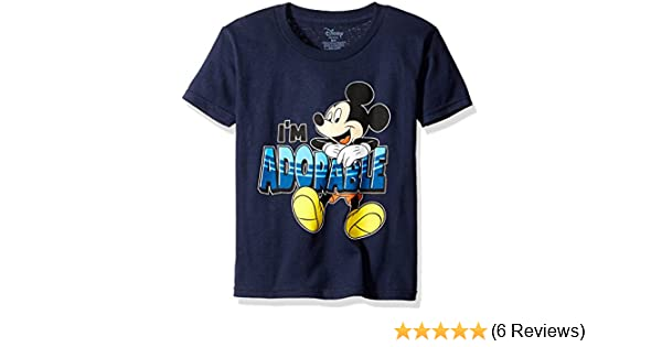"5T Disney Toddler/'s Mickey Mouse /""I/'m Adorable/"" Navy Short-Sleeve T-Shirt"