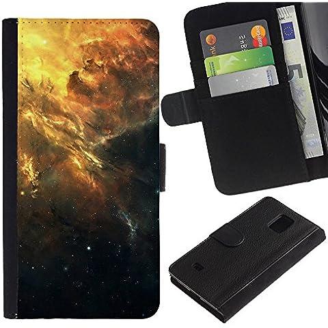 Funny Phone Case // Pelle Portafoglio Custodia protettiva Cassa Caso Leather Wallet Protective Case per Samsung Galaxy S5 Mini, SM-G800 / Bella Galaxy Cluster /