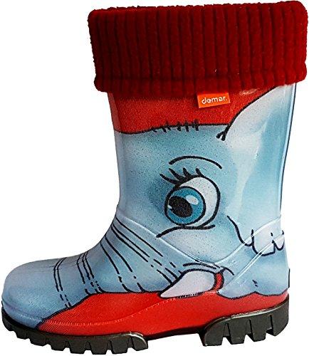 Demar ,  Unisex Kinder Arbeits-Gummistiefel Elefant
