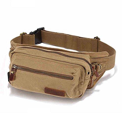Yaobao HQ Sac De Sport pour Homme Sac De Taille Pack Poitrine Messenger Bag Multifonctionnel Forfait D'équitation