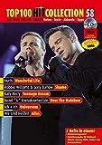 Top 100 Hit Collection 58: 6 Chart-Hits: Over The Rainbow - Wonderful Life - Shame - Teenage Dream - Universum - Alles. Noten für Klavier und Keyboard. Mit MIDI-, Playalong- und Karaoke-CD