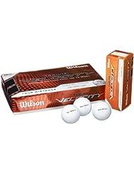 WILSON Golfbälle Tour Velocity Dist 15 BP - Bolas de golf de distancia, color blanco, talla Talla única