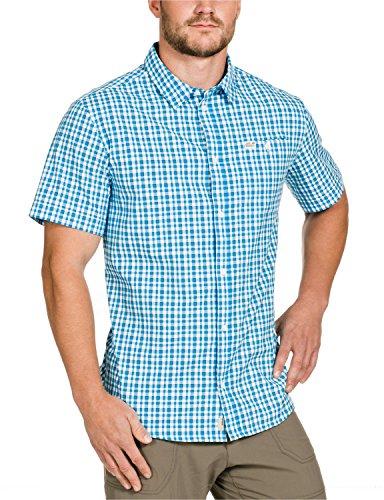 Jack Wolfskin Herren Hemd Flaming Vent Shirt Turquoise Checks