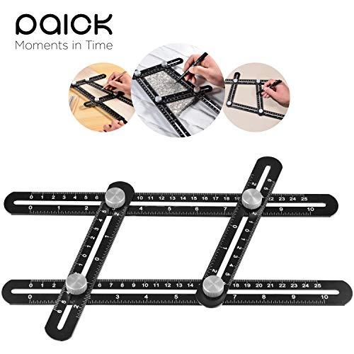 Mehrwinkel-Mess-Lineal, Paick-Aluminium-Legierung, Winkelschablone, Werkzeuge für unregelmäßige Formen, vielseitig verwendbare Layoutwerkzeuge