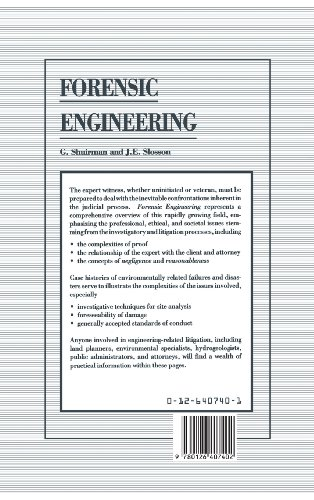 Forensic Engineering: Environmental Case Histories for Civil Engineers and Geologists