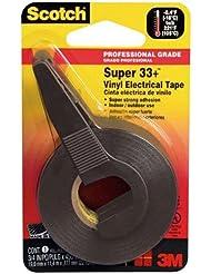 "Super 33+ Vinyl Electrical Tape w/Dispenser, 1/2"" x 200"" Roll, Black"