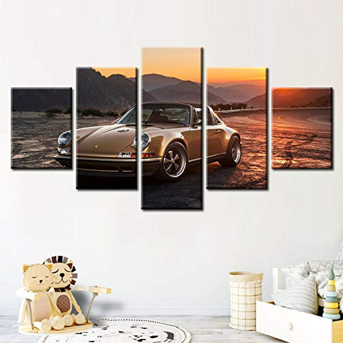 BAOSHOU Picture Wall Art City neon pink Retro Wave Road Canvas Home Decoration Creative Painting Living Room - Neon Wave