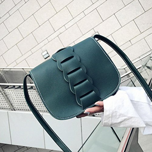 BZLine® Messenger Bags Frauen Handschule Hochschule Messenger Hobo Bag, 19cm*6cm*16cm Grün
