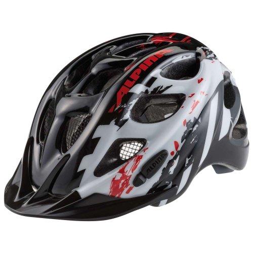 Alpina Unisex - Kinder Fahrradhelm Rocky, black/white/red, 47-52, 9629034