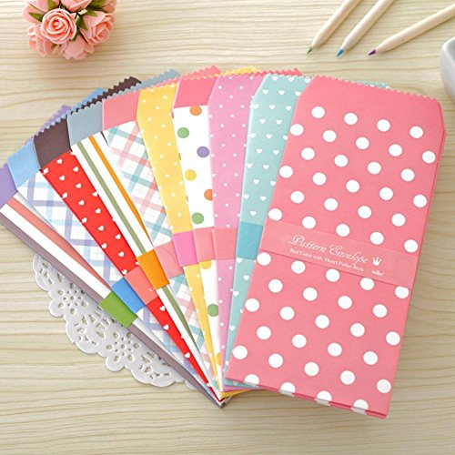 (Blue Vessel 5Pcs / 1Pack Candy-farbigen Umschlag kleines Geschenk Handwerk Umschlag)