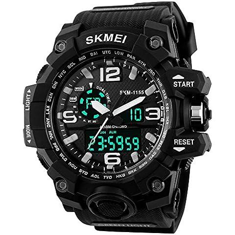 Reloj digital de cuarzo para Skmei 1155–Chaqueta impermeable de moda golpes Reloj de pulsera
