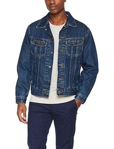 Lee Herren Jeansjacke Rider Jacket, Blau (Dark Stonewash Rd46), X-Large (Jeans-jacke Lee)