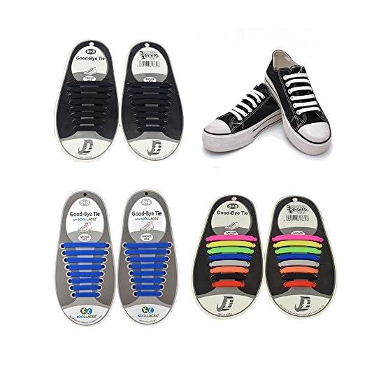 82d6d55b5f ORIMY Paquete de 4 sin corbata Cordones de zapatos para niños y adultos  Impermeables ...