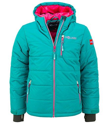 Trollkids Skijacke Hemsedal Snow smaragd/pink 10 Jahre (140 cm)