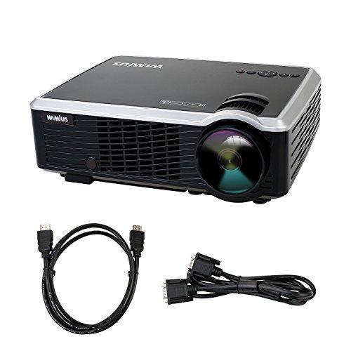 Beamer HD Projektor LED LCD-Beamer 1080P Beamer 3000 Lumen 854*450 Videoprojektor für Heimkino Multimedia