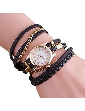Hunpta Neue Mode Wrap Around Armbanduhr Watch Kunstleder Kette