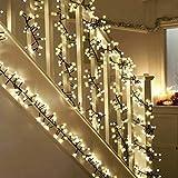 Lichterkette Kugeln,ToFu LED Lichterkette warmweiß, String Licht, Innen- und Außen romantische Dekoration für Kinderzimmer, Schlafzimmer, Garten, Balkon, Fenster, Weihnachtsbaum