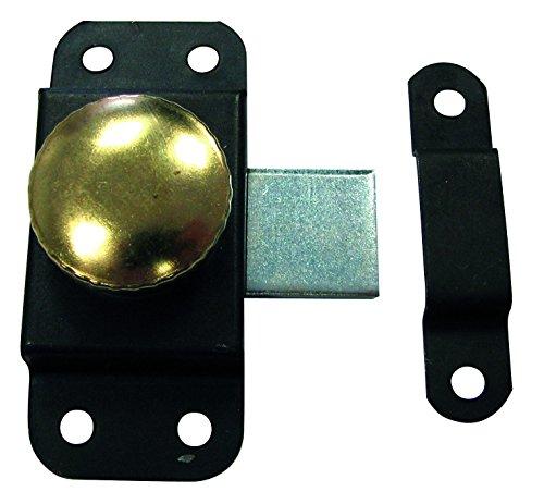 HSI cerrojo giratorio con trabilla, hierro negro, 30mm, 1pieza, 262470.0