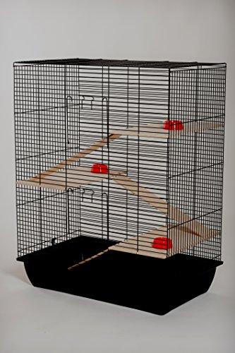 Frettchenkäfig Chinchillakäfig Chrom126 Maße 58x38x71,5cm ,Nagerkäfig Remy