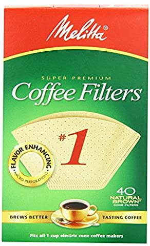 6 Pack No. 1 Cone Coffee Filter In Natural Brown 40 Ct