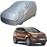 Adroitz Car Cover for Ford Ecosport - Silver (Without Mirror Pocket)