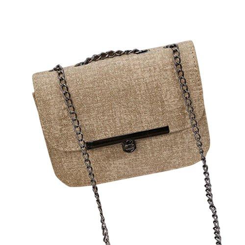 Adatti a donne catena in pelle borsetta (Cachi)