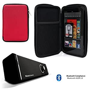 Travel Hard Nylon Lightweight Case For Most 7-inch Tablets (see description) + Bluetooth Speaker