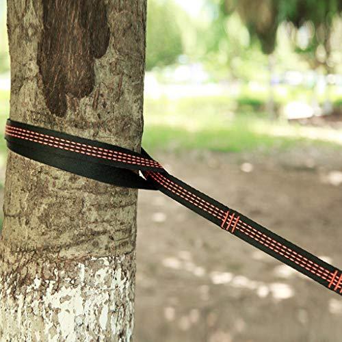 JJsmile Baum hängen Hängemattengurte Einstellbare Kletterseil Befestigungsset Befestigung mit justierbare Schleifen Baumfreundlich Aufhängungssystem für Camping Wandern Picknick Outdoor