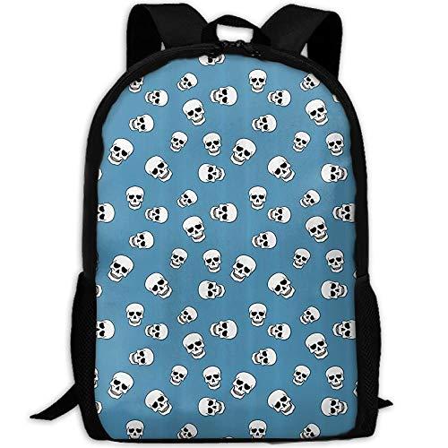 HOJJP Schultasche The Skull and Skull Skull Skull Skull Skull Skeleton is A Gruesome Pattern Canvas Backpack Set Shoulder Bag Bookbag School Bag Travel Bag for Girls Black (Black School Girl Outfit)