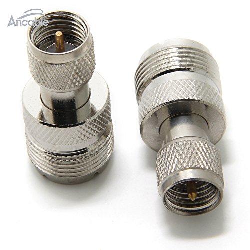 Ancable UHF/PL-259-Adapter, Buchse auf Mini-UHF-Stecker, 2 Stück Mini-uhf-adapter