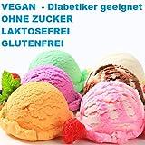 1 Kg Neutral Geschmack Eisbasis Eispulver VEGAN - OHNE ZUCKER - LAKTOSEFREI - GLUTENFREI - FETTARM