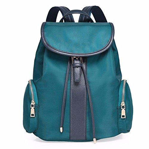 das neue energiesparende wasserdicht nylon oxford stoffbeutel rucksack rucksack,schwarz lake blau