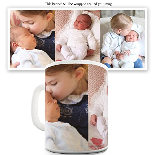 TWISTED ENVY Keramik Neuheit Tasse Royal Baby Prinz Louis Arthur Charle 11 oz Weiß (Royal-baby-tasse)