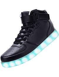 LED Zapatos Niño/Adult 7 Colores que Cambian con el Brillo de USB Recargables Hombres de las Mujeres Calza los Luminosos Zapatillas con Luces de Zapatillas LED