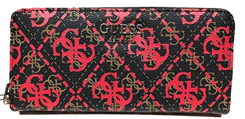 Guess Zip Around Wallet Vikky RED MULTI