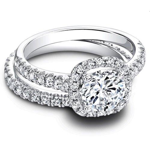 Forever Diamond  -  14K White Gold  14 Karat Weißgold Rundschliff   Leicht Getöntes Weiß/Top Crystal (I) Diamant - Diamond Forever