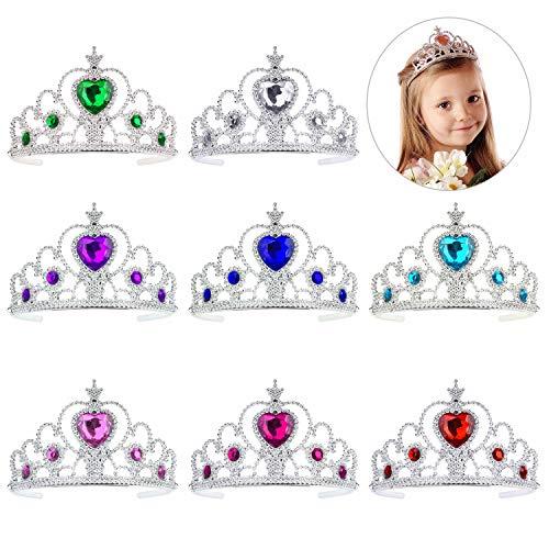 QIMEI-SHOP Prinzessin Tiara Set 8 Stück Kinder Prinzessin Tiara Crown Set Mädchen verkleiden Party Zubehör
