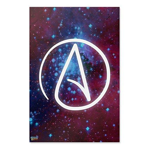 """Grafiken und Mehr Atheist Atheismus Symbol, in Space Home Business Büro Schild 24"""" x 36"""" Multi"""