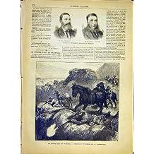 Guerre de Boer de Joubert Kruger de Portrait Afrique Transvaal 1881