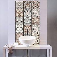 QJONKE Traditionelle Mexikanische Talavera Fliesen Aufkleber Für Badezimmer  U0026 Küche Backsplash Dekoration 20 X 100 Cm