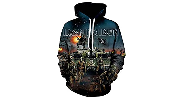 Unbekannt Hoodies Iron Maiden 3D Impressions Sauteurs Respirant /À Motifs Sweatshirts pour pour des Hommes Aux Femmes