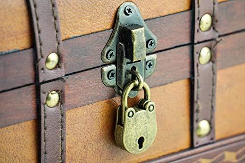 Brynnberg-Caja-de-Madera-William-22x14x14cm-Cofre-del-Tesoro-Pirata-de-Estilo-Vintage-Hecha-a-Mano-Diseo-Retro-joyero-con-candado