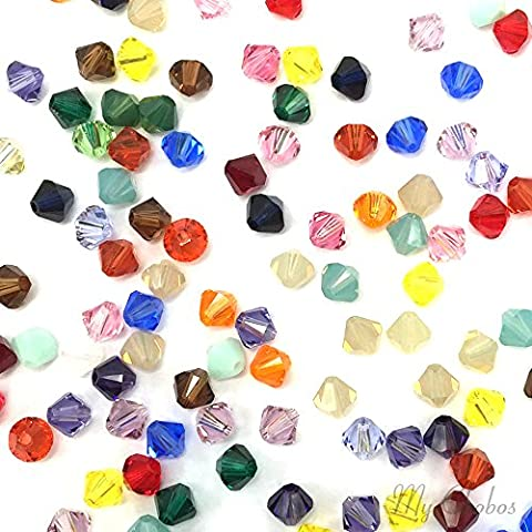 50 pcs Swarovski 5328 / 5301 6mm Crystal Xilion Bicone Beads MIX Colors **FREE Shipping from Mychobos (Crystal-Wholesale)**