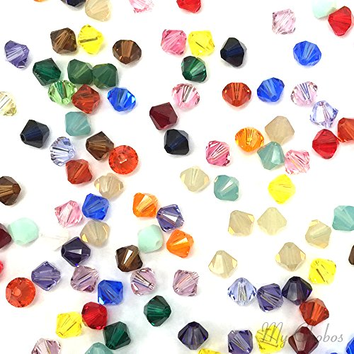 50 pcs Swarovski 5328 / 5301 6mm Crystal Xilion Bicone Beads MIX Colors **FREE Shipping from Mychobos (Crystal-Wholesale)** - Bicone Crystal 6mm Swarovski